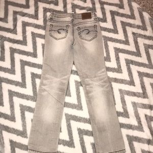 Justice gray skinny jeans size 8